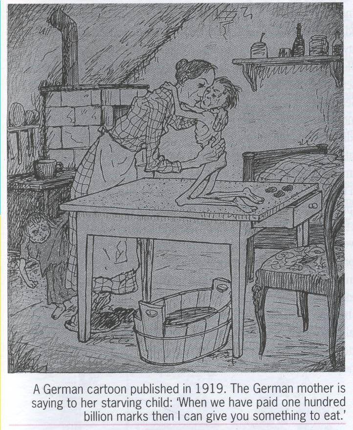 Treaty Of Versailles Source German Cartoon Of The Impact The