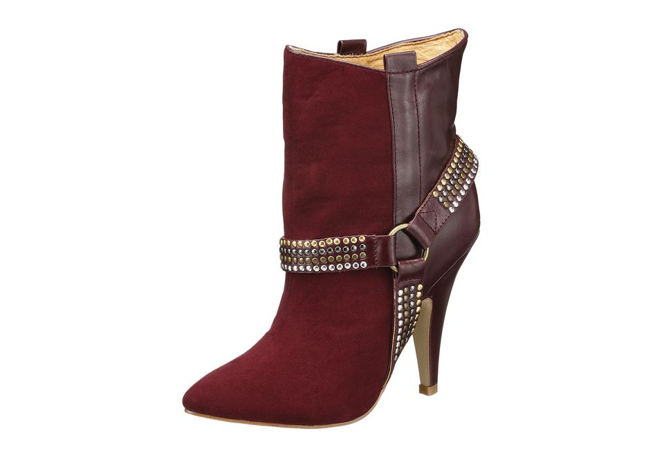 new product cdb0e cdcda Buffalo London Stiefelette mit Nieten, bordeaux rot, Schuhe ...