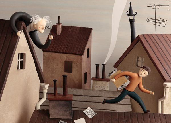 Escape on rooftops / Work process on Behance