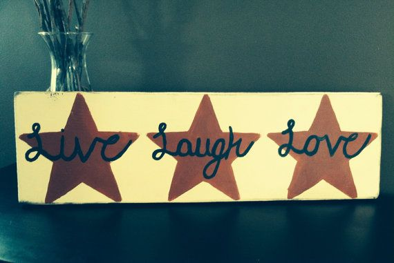 Live Laugh Love hand painted home decor by CharmingWillows on Etsy, $25.00