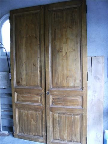 2 portes anciennes de placard 1 Portes anciennes Pinterest - fabriquer un placard avec porte coulissante