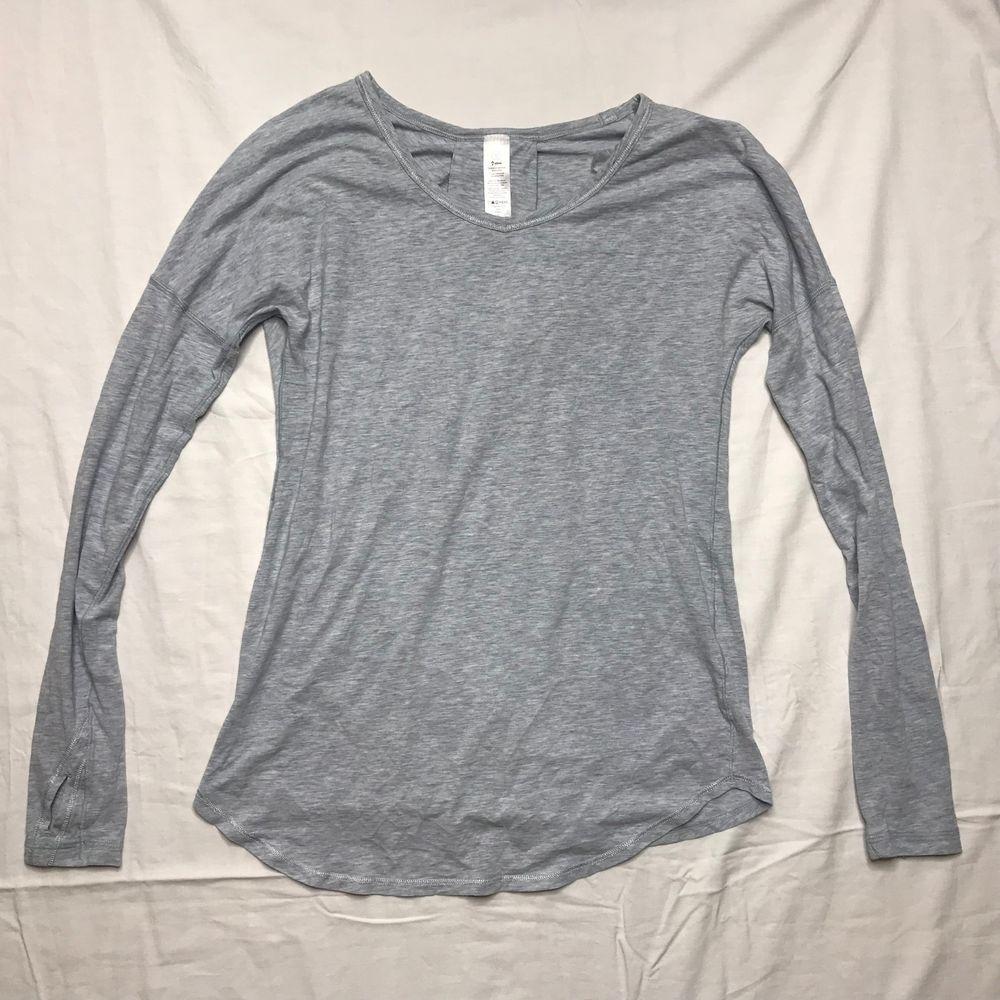 2a0a03142 Ivivva Lululemon Girls size 12 Gray Long sleeve shirt tee top #ivivva