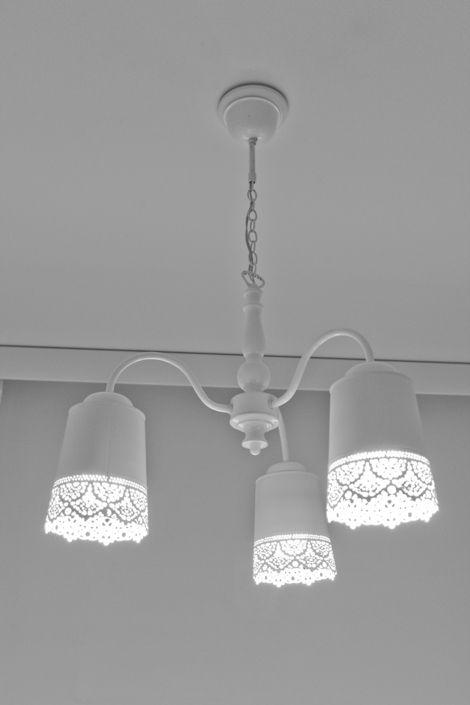 Chez Diy De Avec Cache Déco BlancFabriqué Pots IkeaIdées Lustre Pk8wX0On
