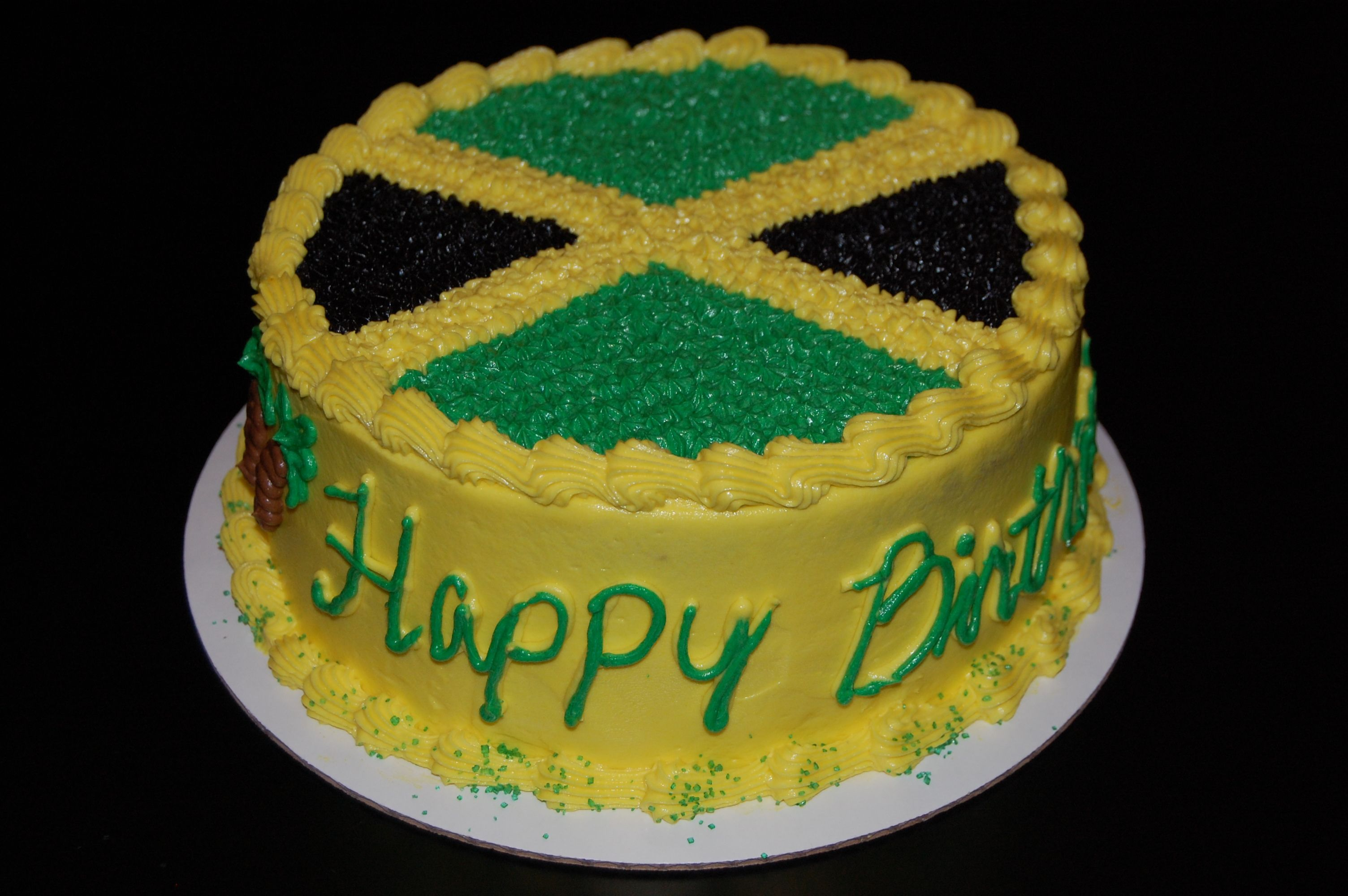 Jamaican Flag Cake Decorations