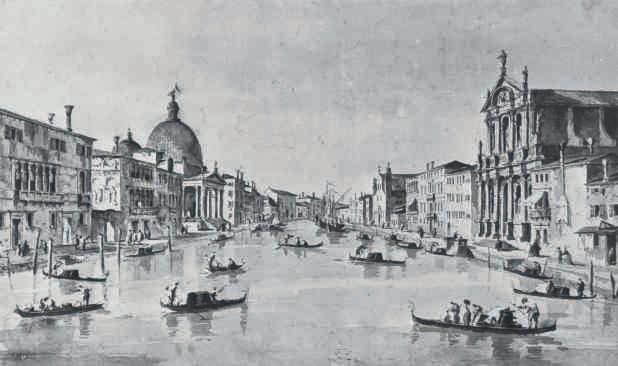 Francesco Guardi, The Grand Canal, Venice, with San Simeone Piccolo
