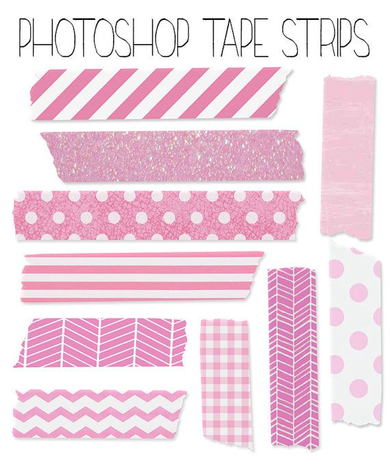 Instant Download Set Of 10 Digital Washi Tape Strips Scrapbook E011 Digital Clip Art Graphic Printable Stickers Washi Tape Planner Bullet Journal Stickers
