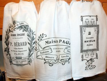 Flour sack towels, using t-shirt transfer paper - the tutorial