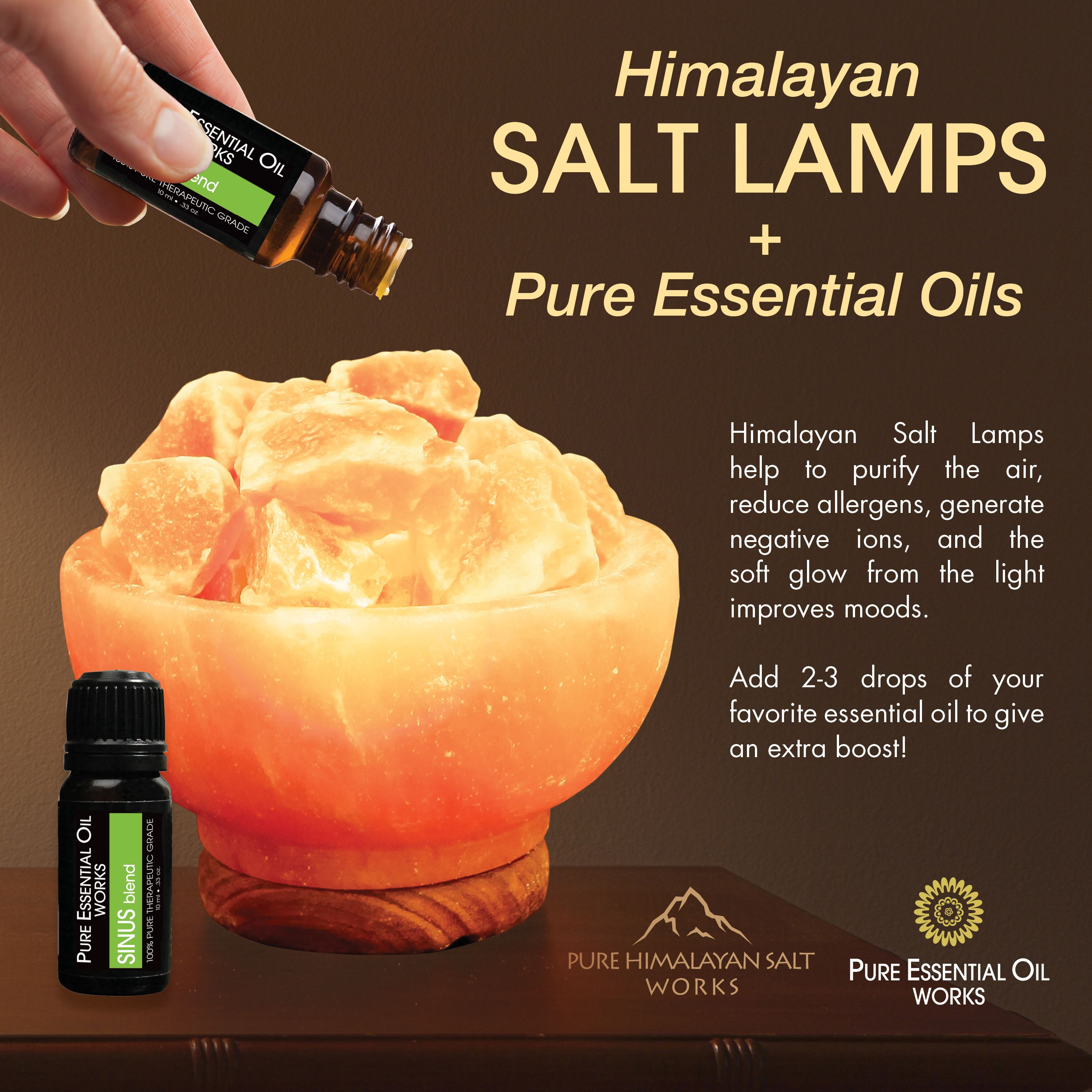How To Enhance Your Himalayan Salt Lamp With Oils Saltlamp Essentialoils Natural Himala Himalayan Salt Lamp Benefits Himalayan Salt Lamp Salt Lamp Benefits