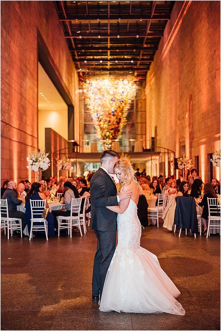 Classic Joslyn Art Museum Wedding Night Time Wedding Museum