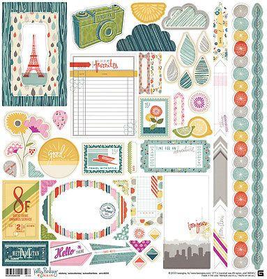 BasicGrey MON AMI 12x12 Element Sticker Sheet scrapbooking FRANCE TRAVEL
