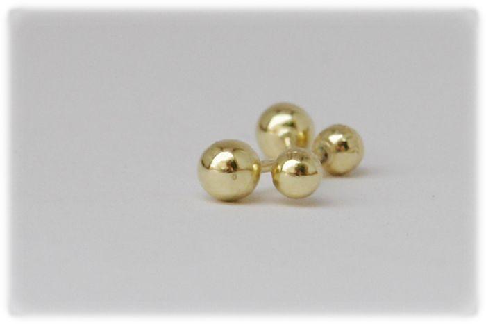 6c1de19e0950 Elegantes Broqueles Bola en oro 10k con broche de bolita para mayor ...