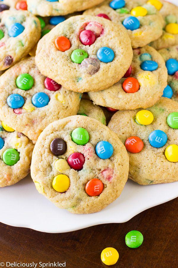 m&m cookies recept