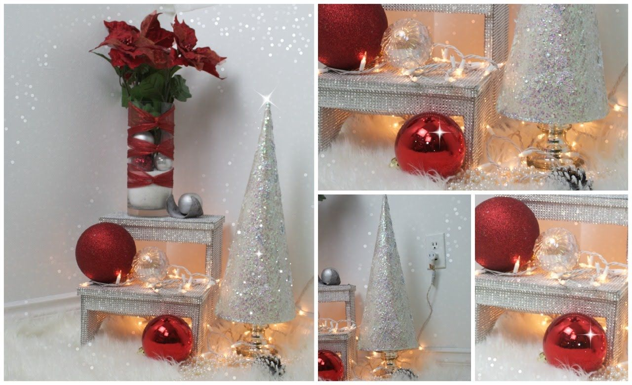 Super facil y economica decoracion para navidad 2do dia - Decoraciones navidenas manualidades ...