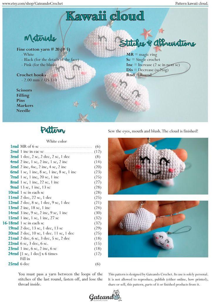 Resultado de imagen para amigurumis para llaveros patrones gratis ...