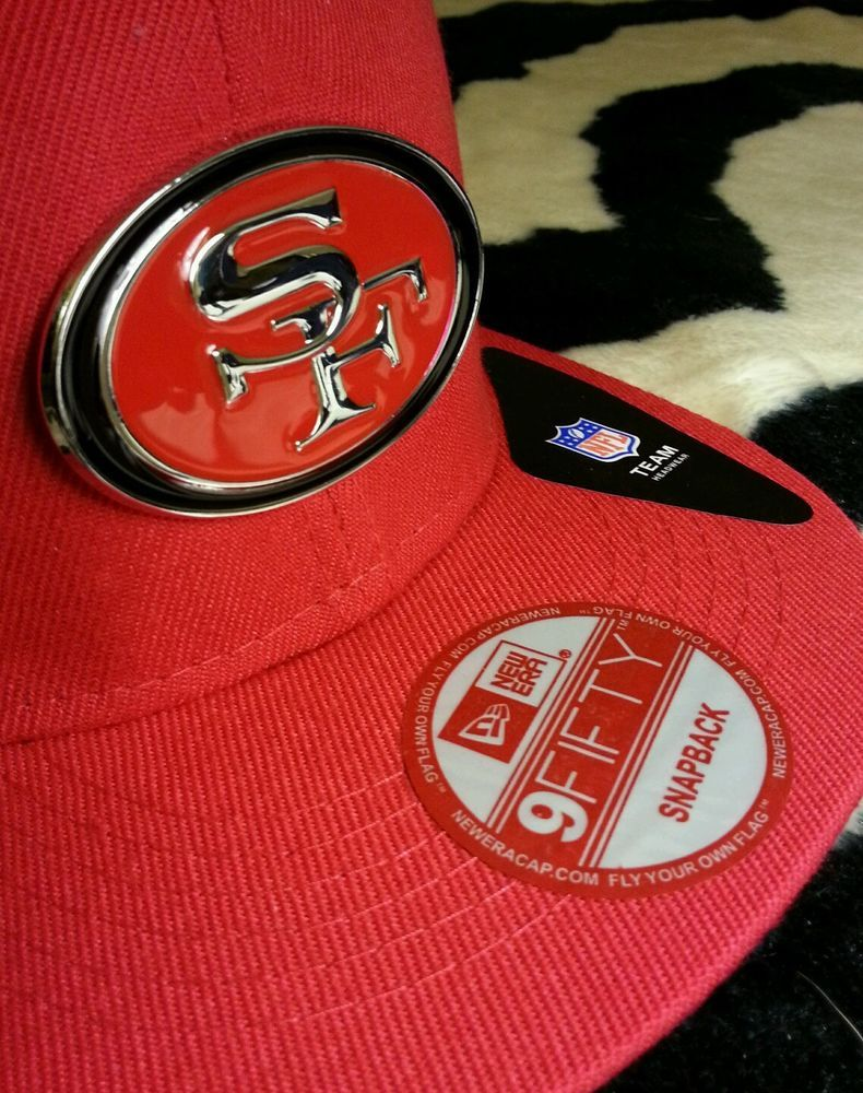 2c75aca85a9ed San Francisco 49ers Metal Logo Snapback Red Hat. Niner Empire ! Rare Hat.  from  39.95