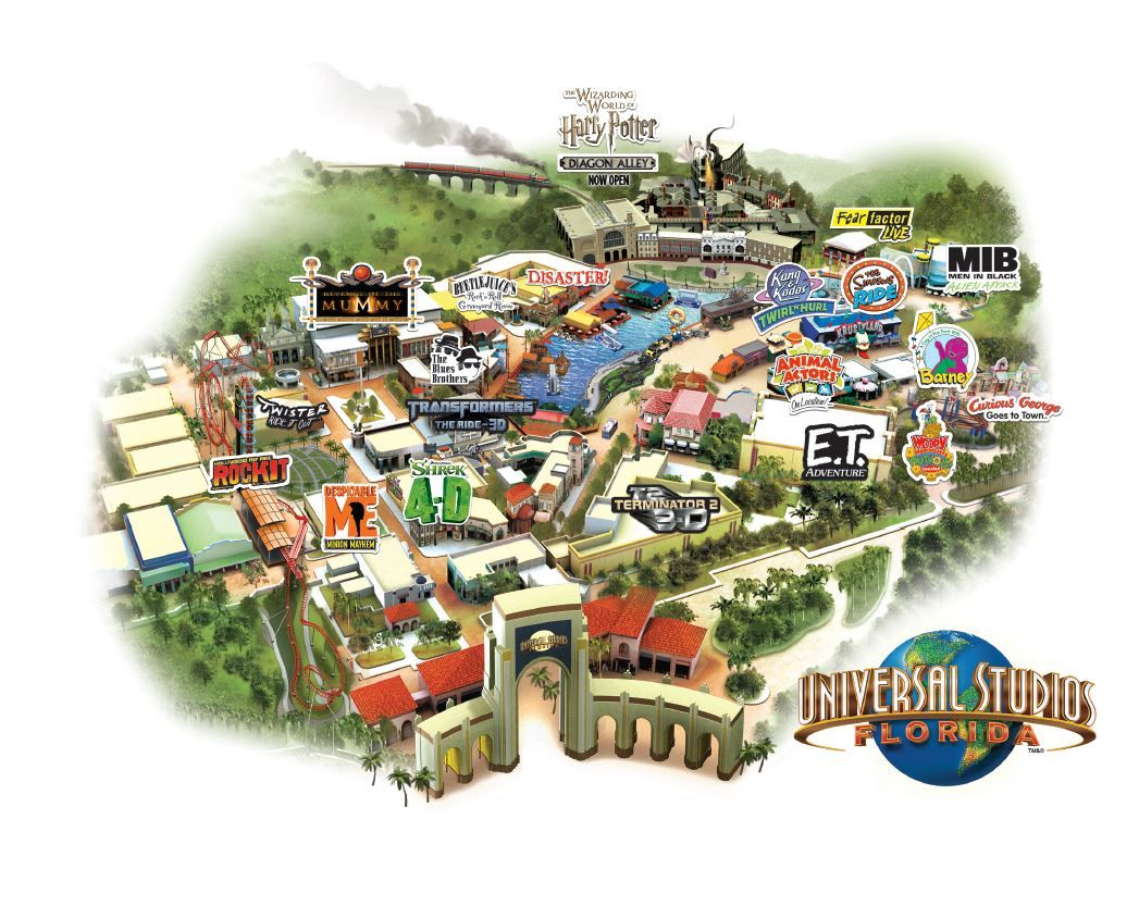 mapa universal estudios  Universal Orlando Resort  Pinterest