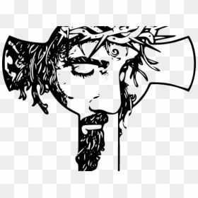 Jesus Cara En La Cruz De Dibujo Hd Png Descargar Corona Silueta Png Cross Drawing Drawings Simple Face Drawing
