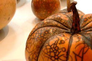 """From """"Maria Gelabert"""".... wonderful raku pumpkins"""