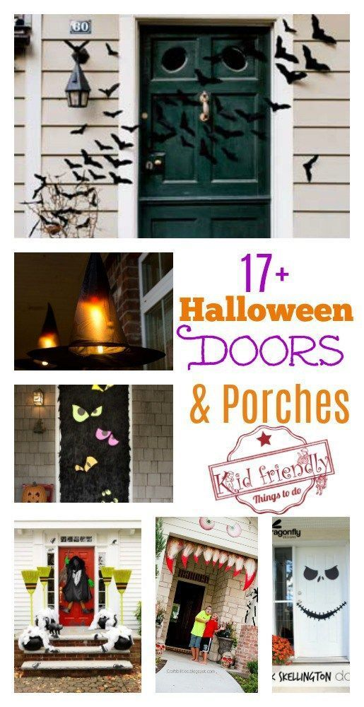 Over 17 Super Fun Halloween Themed Front Door and Porch Ideas Diy - halloween diy decoration