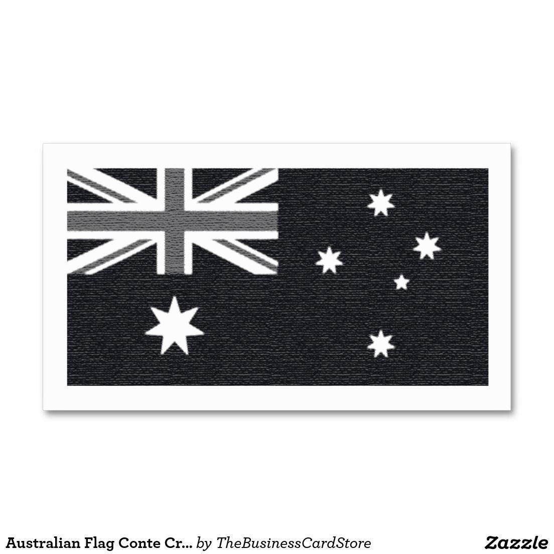 Australian Flag Conte Crayon Effect Australia Business Card   WORLD ...