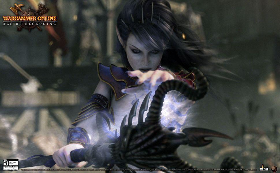 Dark Elf Sorceress Hd Wallpaper