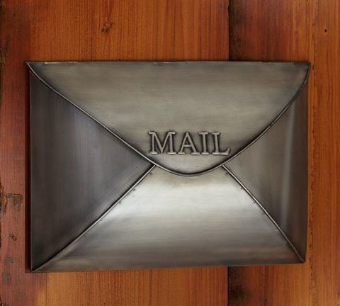 Styled Like An Envelope Our Metal Mailbox S Lid Opens To