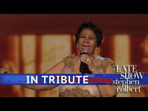A Late Show Tribute To Aretha Franklin Youtube Video And The