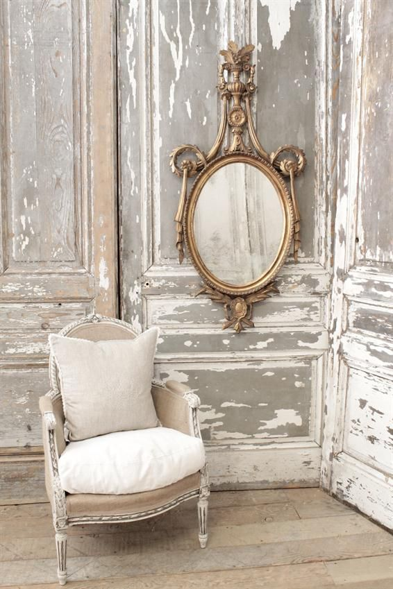 Antique Scroll Wall Mirror From Full Bloom Cottage