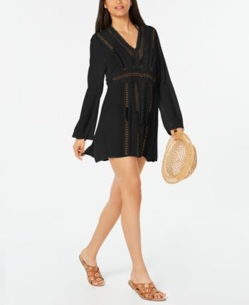 5157fdd3a5 Raviya Crochet Tunic Cover-Up - Black S in 2019 | Products | Crochet ...