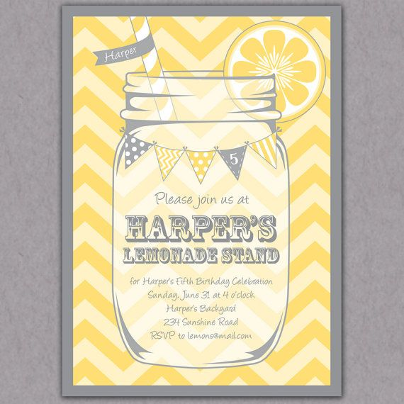 Lemonade stand party invitation party invitations and birthdays stopboris Gallery