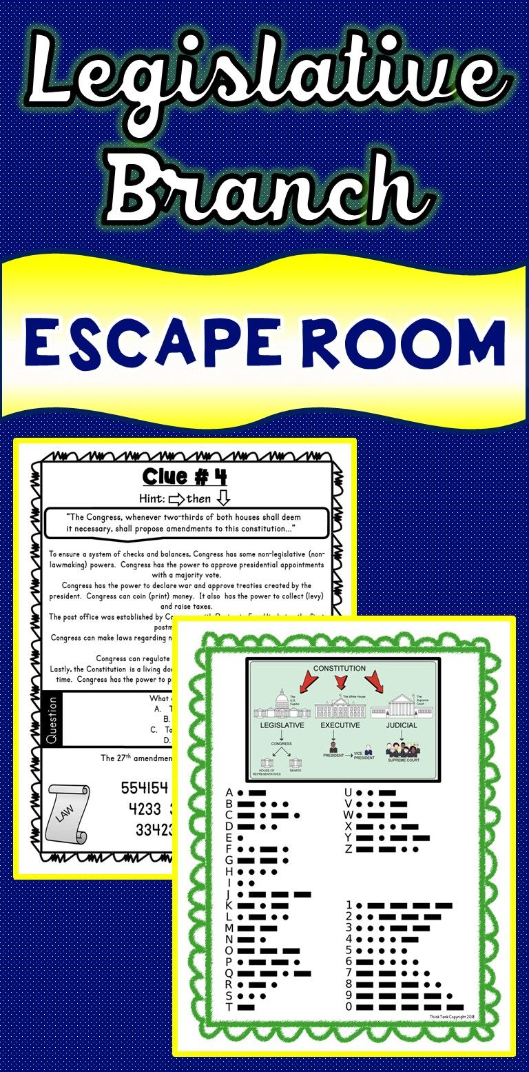 The Legislative Branch Escape Room Will Take Students On A Secret Mission Aroun Social Studies Middle School Social Studies Activities 3rd Grade Social Studies [ 1555 x 768 Pixel ]