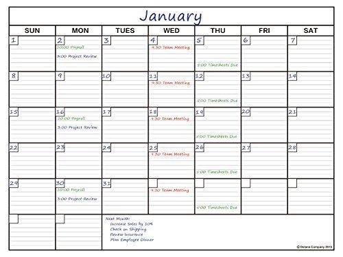 Delane Large Dry Erase Wall Calendar Planner, 24 x 36 Dorm