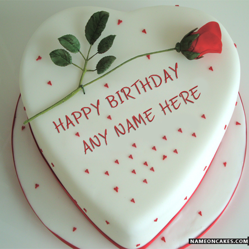 Red Rose Happy Birthday Cakes For Lover With Name | HBD ...