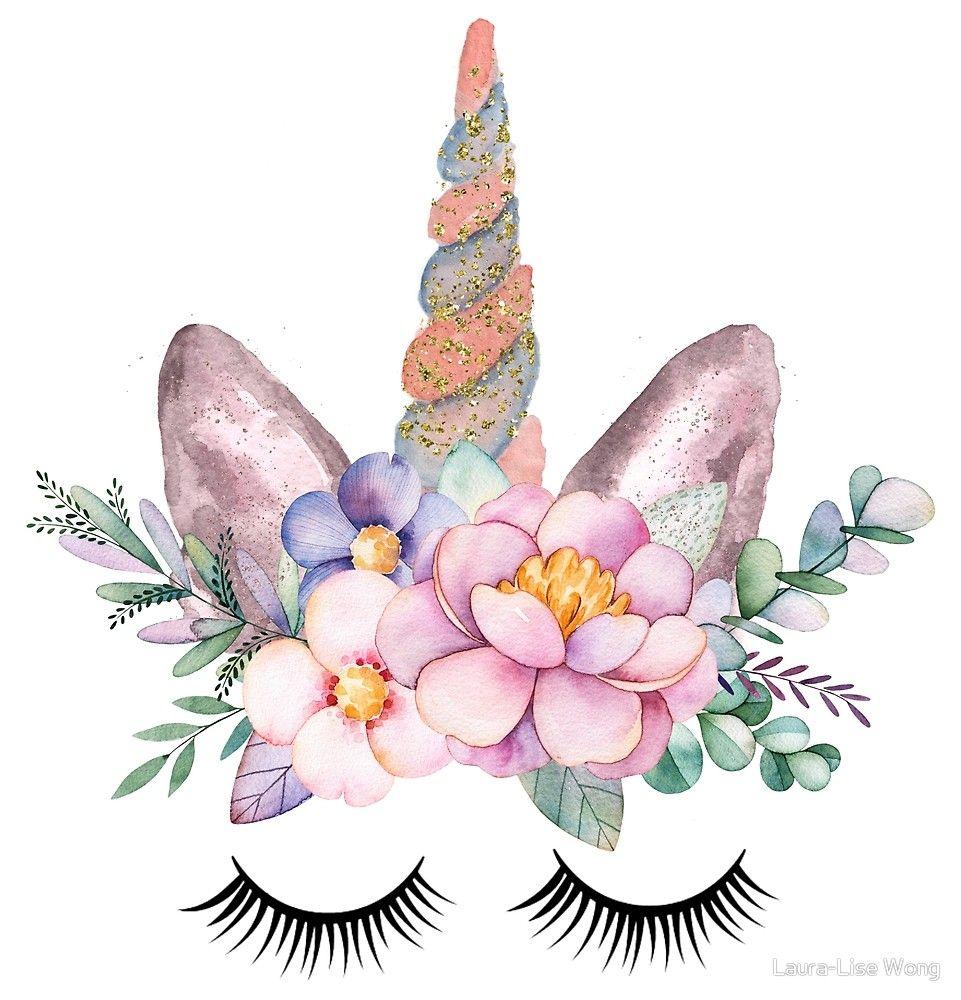 20+ Unicorn Clip Art Watercolor Flowers Ideas and Designs
