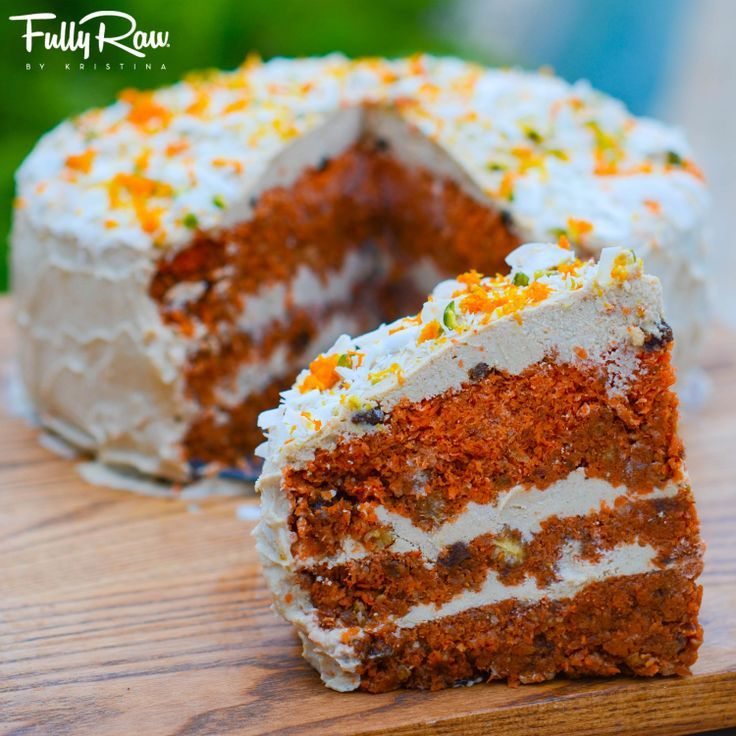 Raw Vegan Carrot Cake A Perfect Cake To Make For Any Special