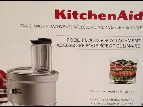 Kitchenaid Food Processor Attachment Review Youtube Culinary