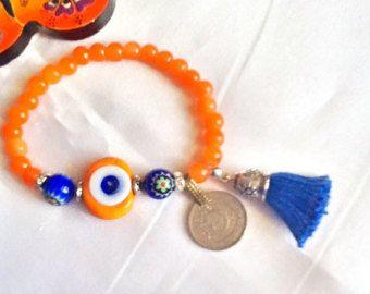 c5576b7e4ecb VENTA---Amuleto turco pulsera-Kuchi moneda - mal de ojo joyas-Bohemia - gitana  pulsera-Oriente