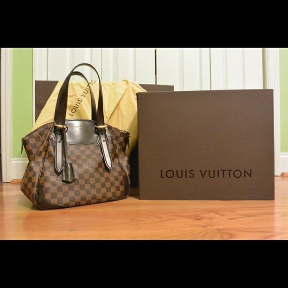 Louis Vuitton Verona Mm Damier 100 Authentic Handbag Bought From Saks Fifth Avenue Includes Original Box Ping Bag And Dust