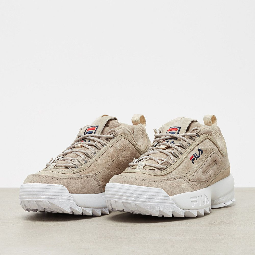 Fila Disruptor S Low feather grey in 2019 | Fila schuhe