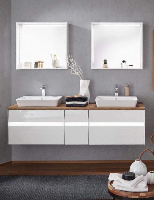 Badezimmer In Weiss Grifflos Entdecken Badezimmer Unterschrank Bad Waschbecken