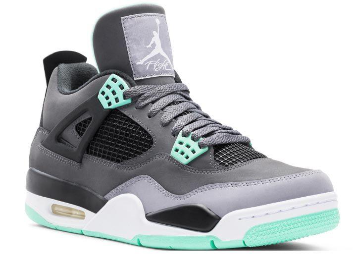 a8a2cd8557bdb8 australia nike air jordan 4 retro shoes dark grey green glow 77d32 d7d71