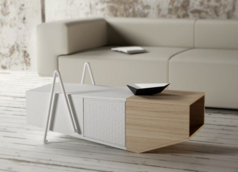 Tavolino Poggiapiedi ~ Formabilio yak è un tavolino contenitore da living con un pouf
