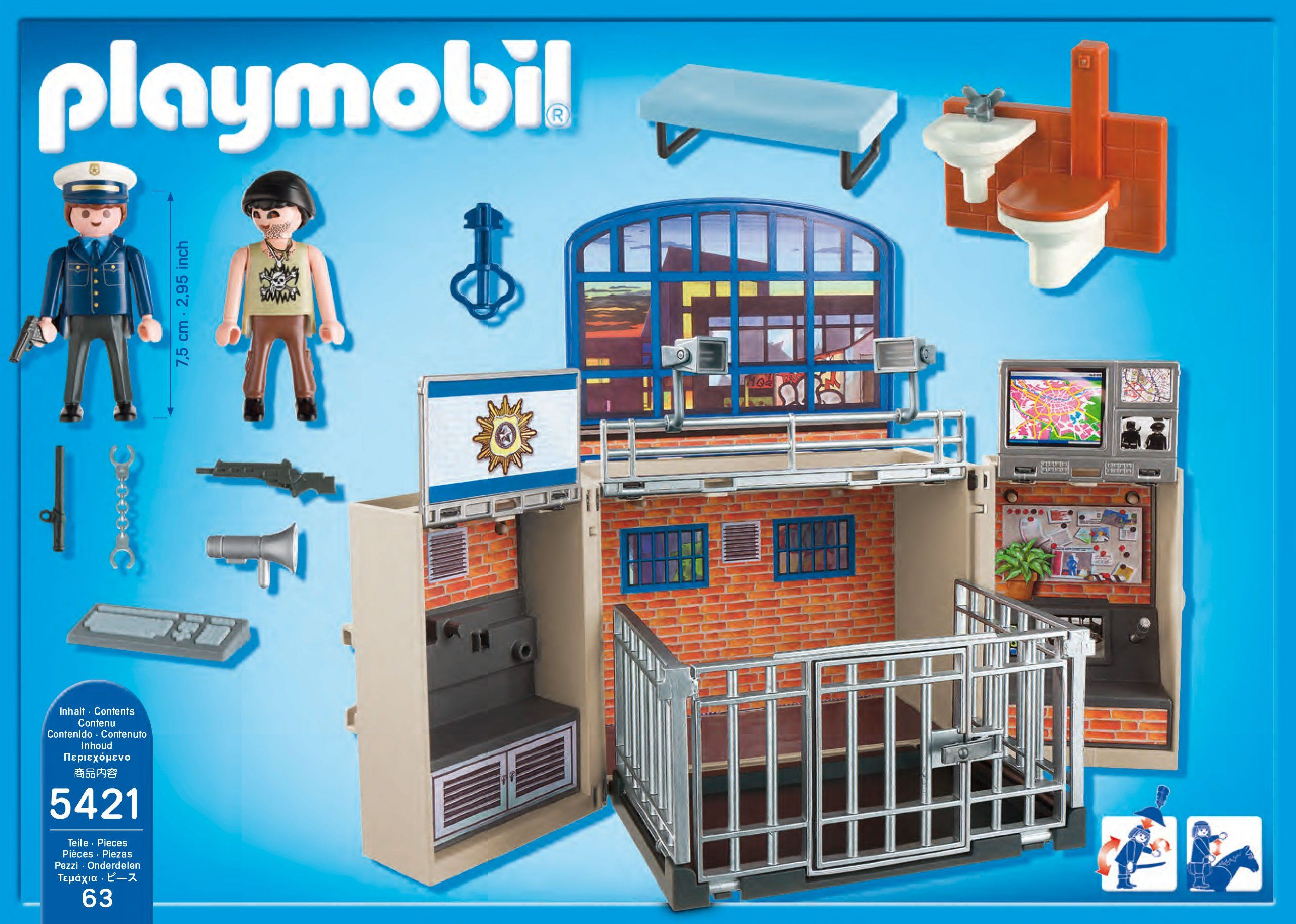 15 eur amazon.de:playmobil 5421 - pop game box, police station, Badezimmer ideen
