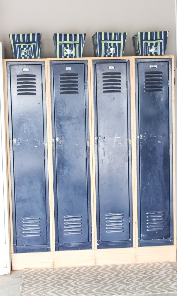 Old School Lockers Made New   #School Rooms Ew Aw   Pinterest ...