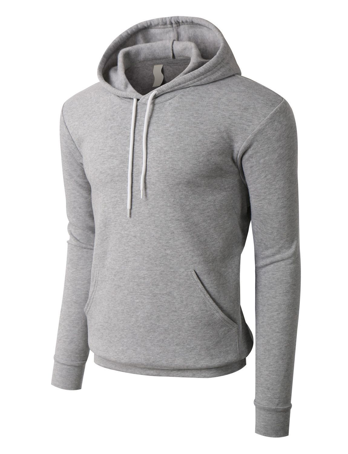 PREMIUM Mens Slim Fit Soft Fleece Pullover Hoodie Sweatshirt ...