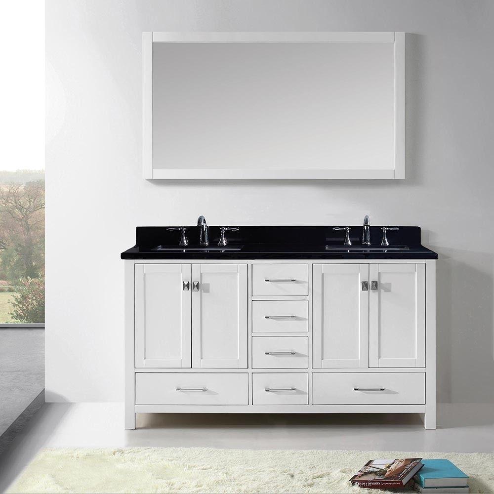 Virtu USA Caroline Avenue 60-inch Double Bathroom Vanity Cabinet Set ...