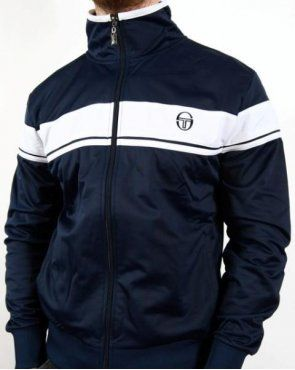 sergio tacchini masters mcenroe track top navy white. Black Bedroom Furniture Sets. Home Design Ideas