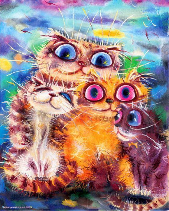Открытки коты рисованные, праздником курбан байрам