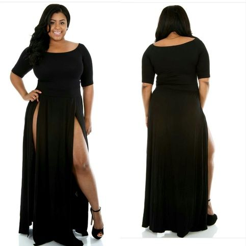 44a39248334 double split dress ( black ) plus size from Courtlynn Boutique on Storenvy