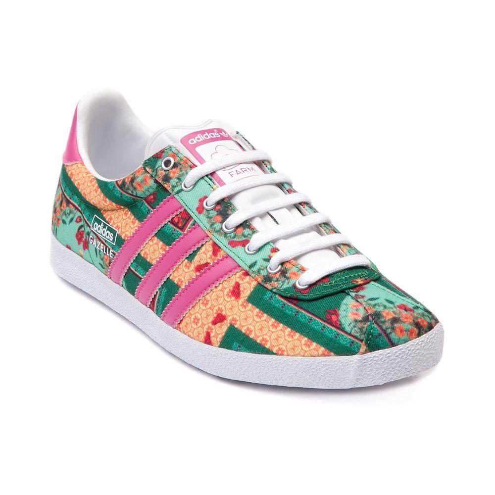 Womens adidas x FARM Gazelle OG Athletic Shoe Women